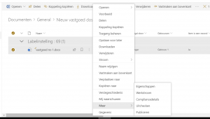 Metadata view in SharePoint - document opties